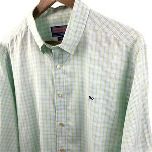 Vineyard Vines Green Plaid Button Up Shirt Large